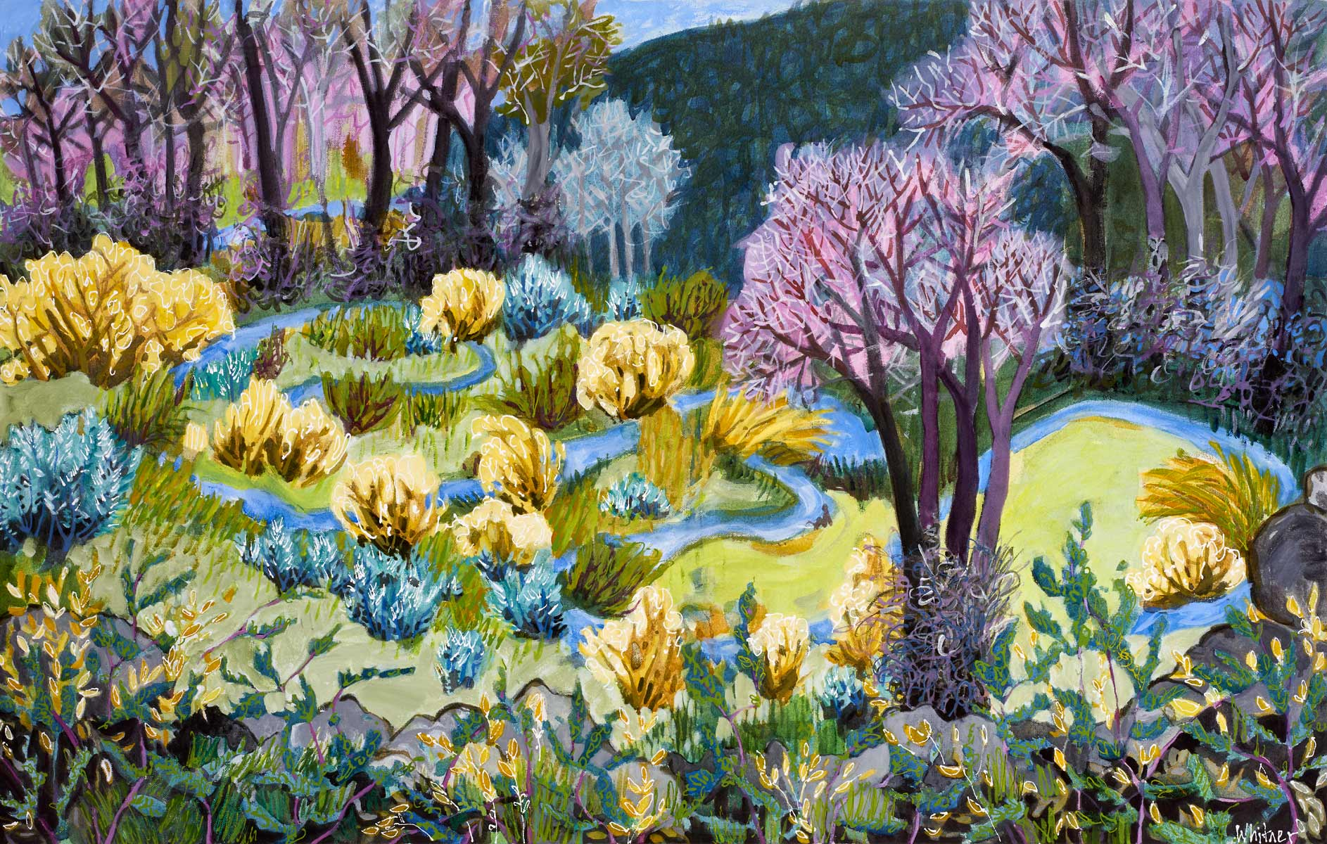Rocky Mountain Paintings Contemporary Funky Landscapes Lance Whitner Artist Steamboat Springs