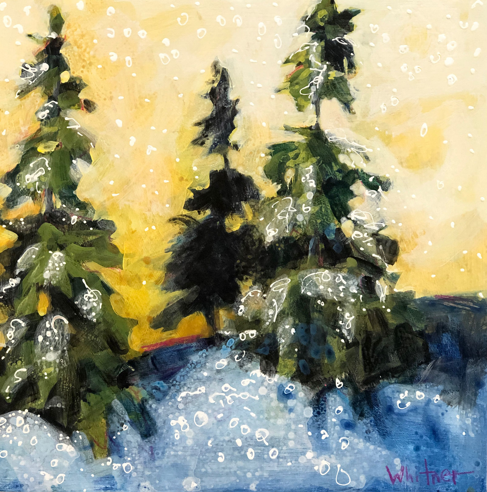 Dawn-Patrol-No2-winter landscape painting by Colorado artist Lance Whitner