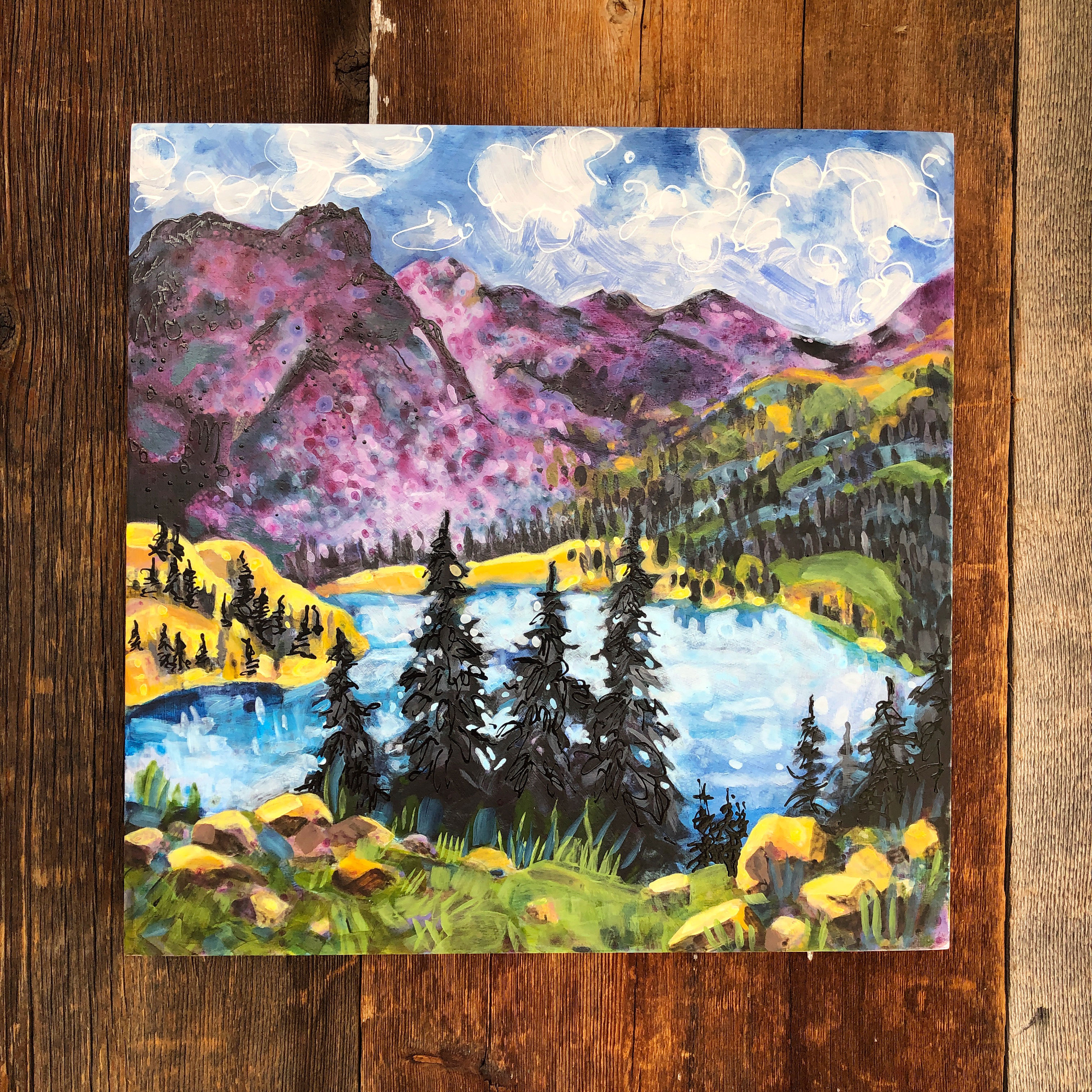 Gilpin-Lake-12x12- painting by Lance Whitner, Steamboat Springs Colorado artist