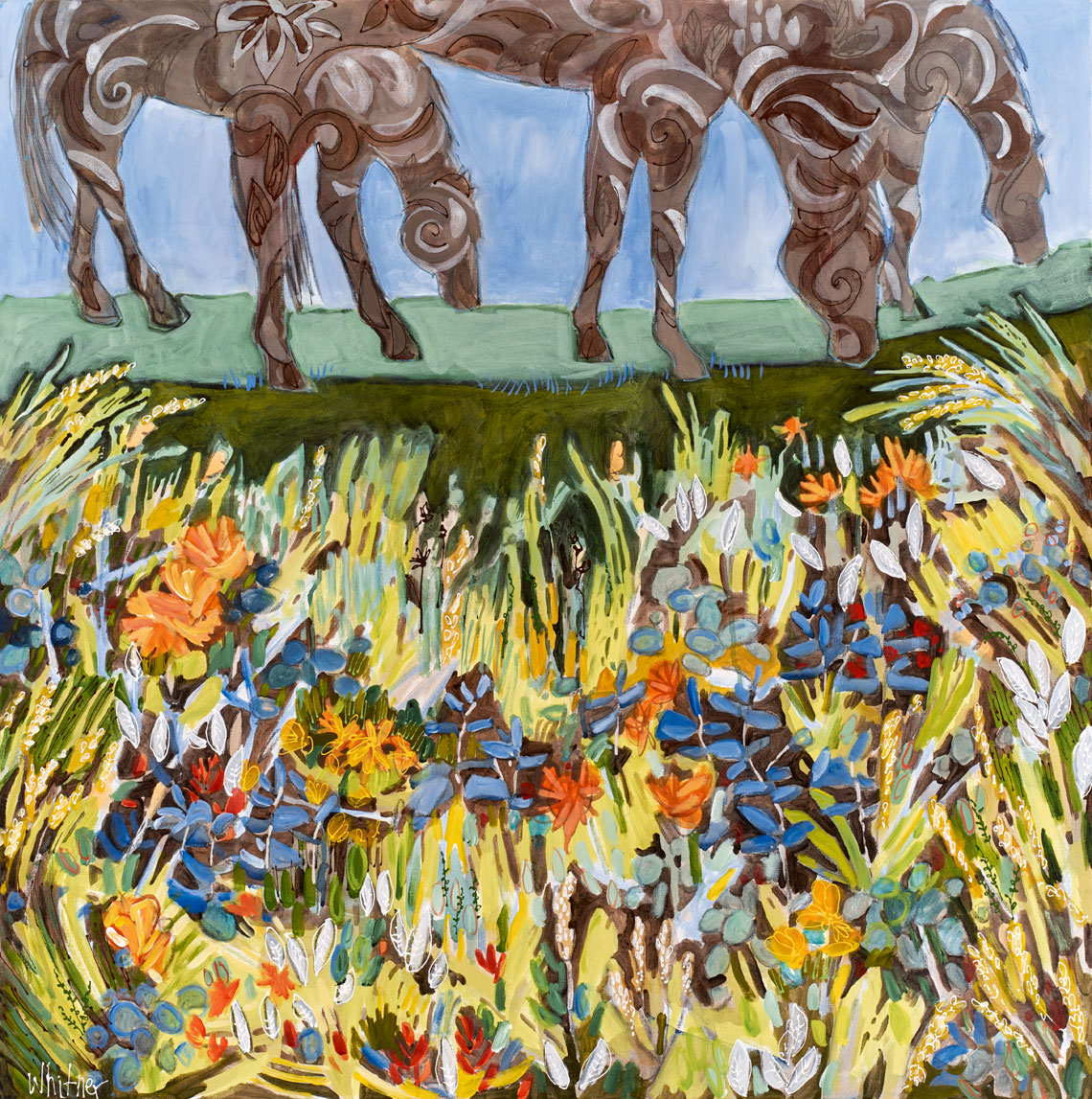 Horse paintings Lance Whitner Steamboat Springs Rocky Mountain Contemporary artist Pine Moon Fine Art Gallery