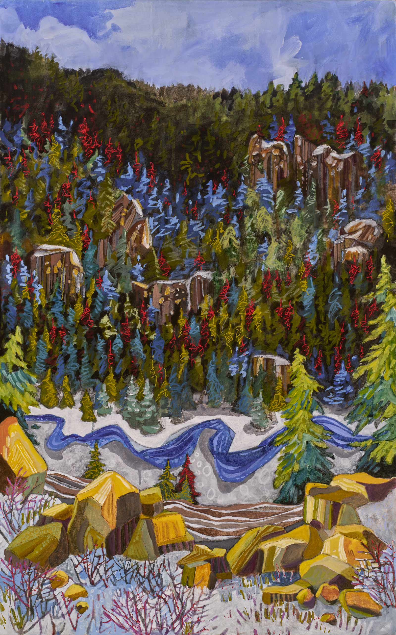 new paintings by Lance Whitner at Pine Moon Fine Art.  Fish Creek Canyon  37x23