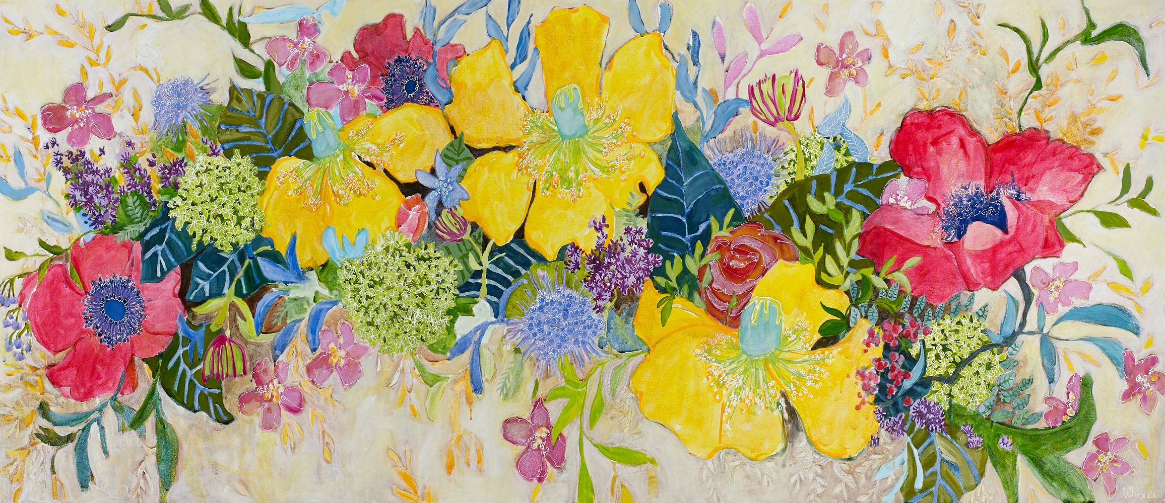 Floral Medley Rocky Mountain Paintings Contemporary Funky Landscapes Lance Whitner Artist Steamboat Springs