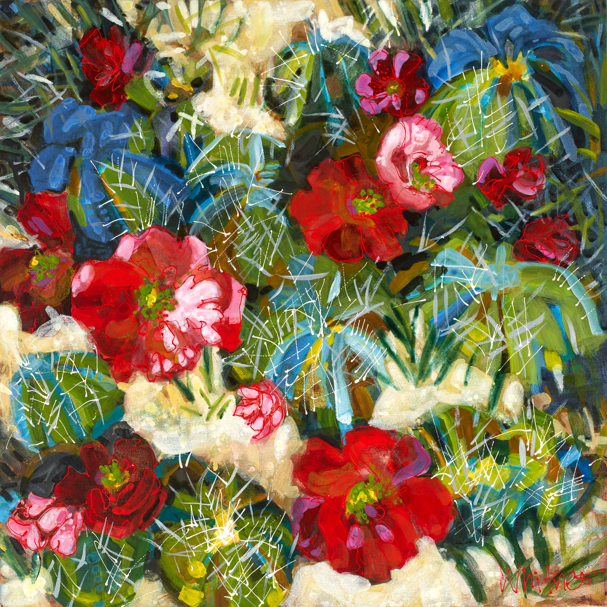 Lance-Whitner-Cactus-Flora-painting available at sundancecatalog.com