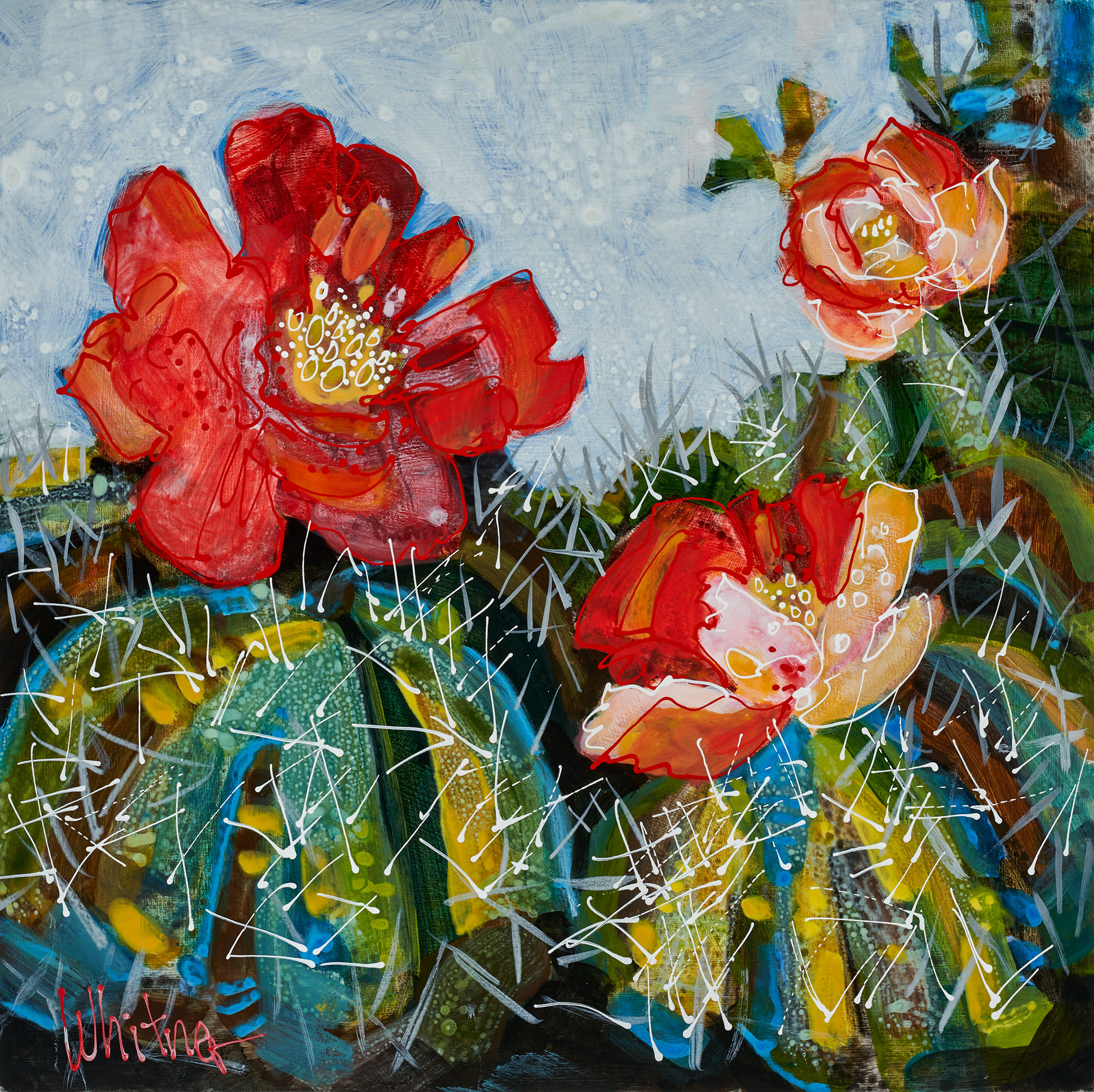Lance-Whitner-Cactus-Reds-12X12  available at sundancecatalog.com