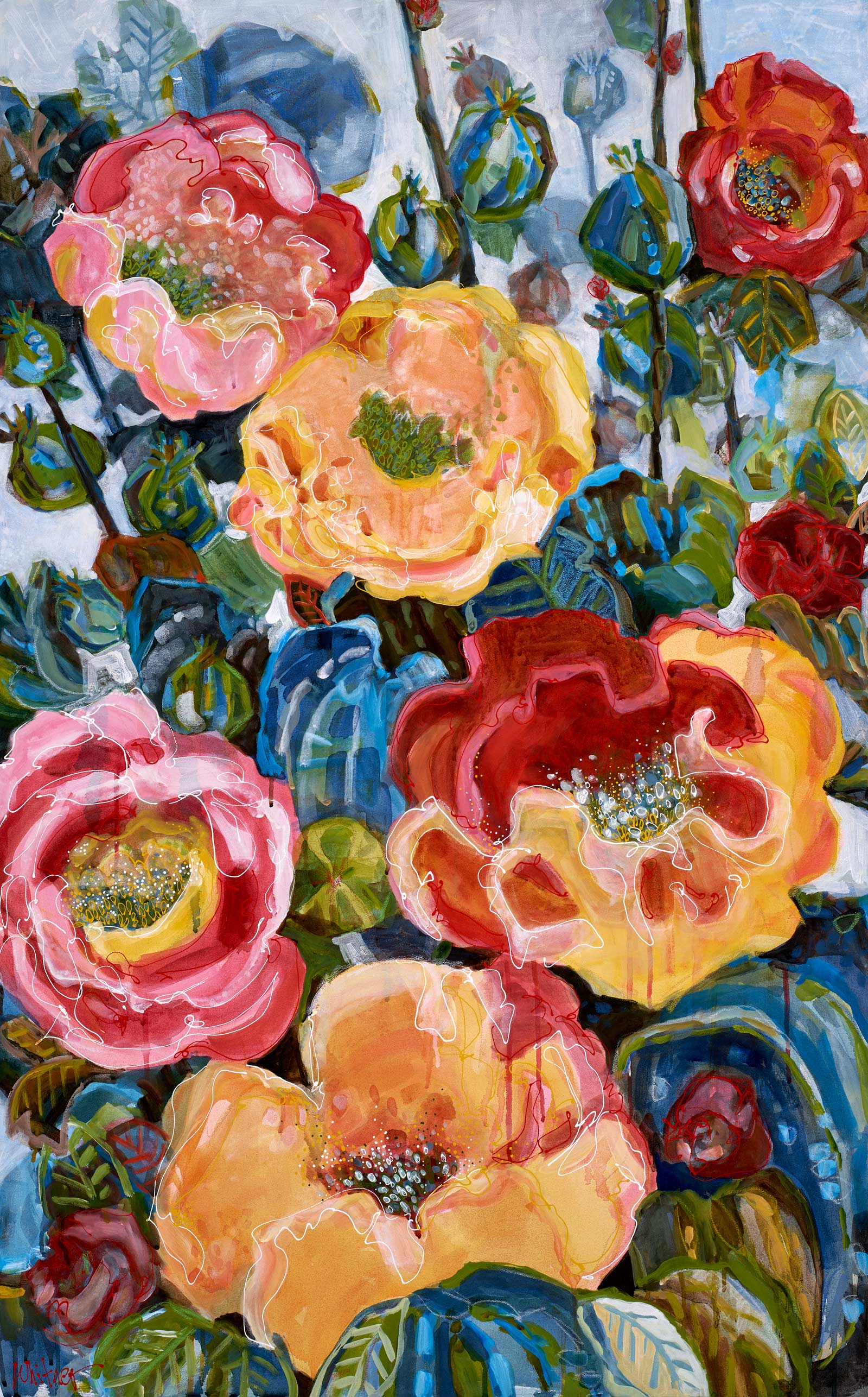 Lance-Whitner-Floral Colors painting available at Sundancecatalog.com
