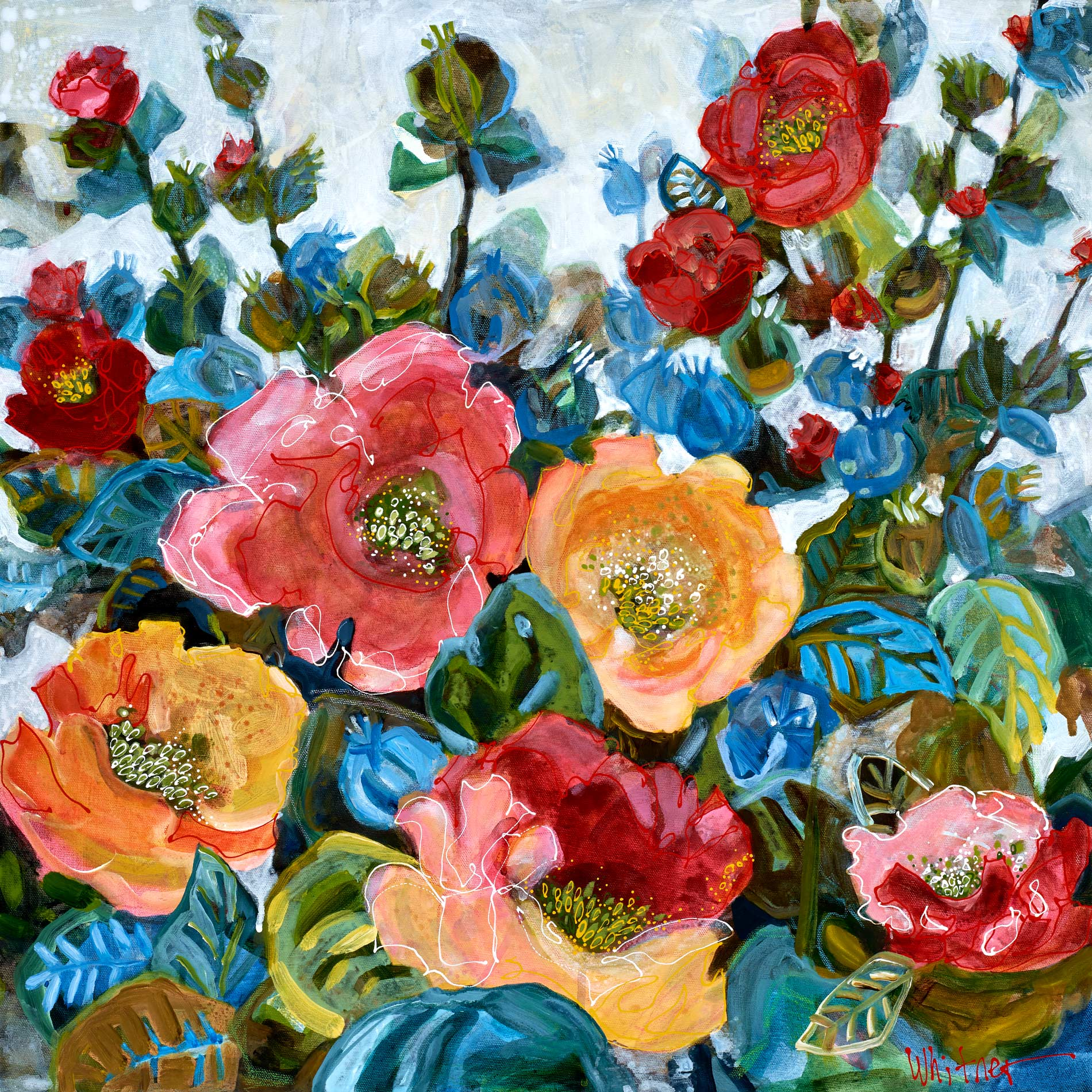 Lance-Whitner-Garden Flowers painting available at sundancecatalog.com
