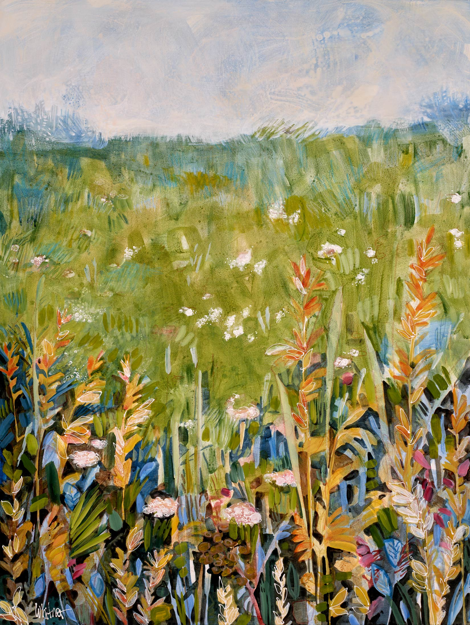 Lance-Whitner-Afternoon in the Meadow painting available at sundancecatalog.com