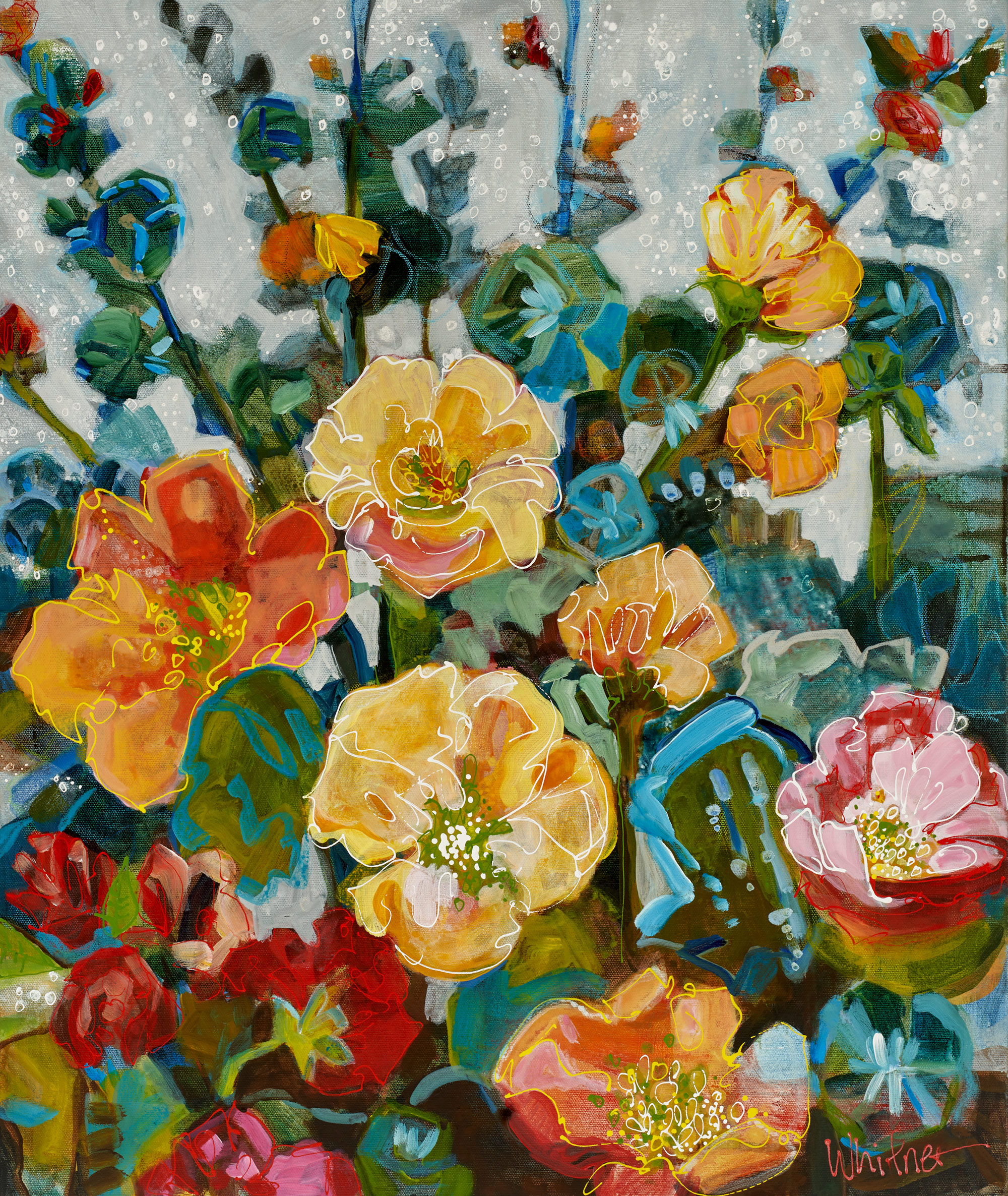 Lance-Whitner-Hollyhocks-24X20-Canvas-Web available at sundancecatalog.com