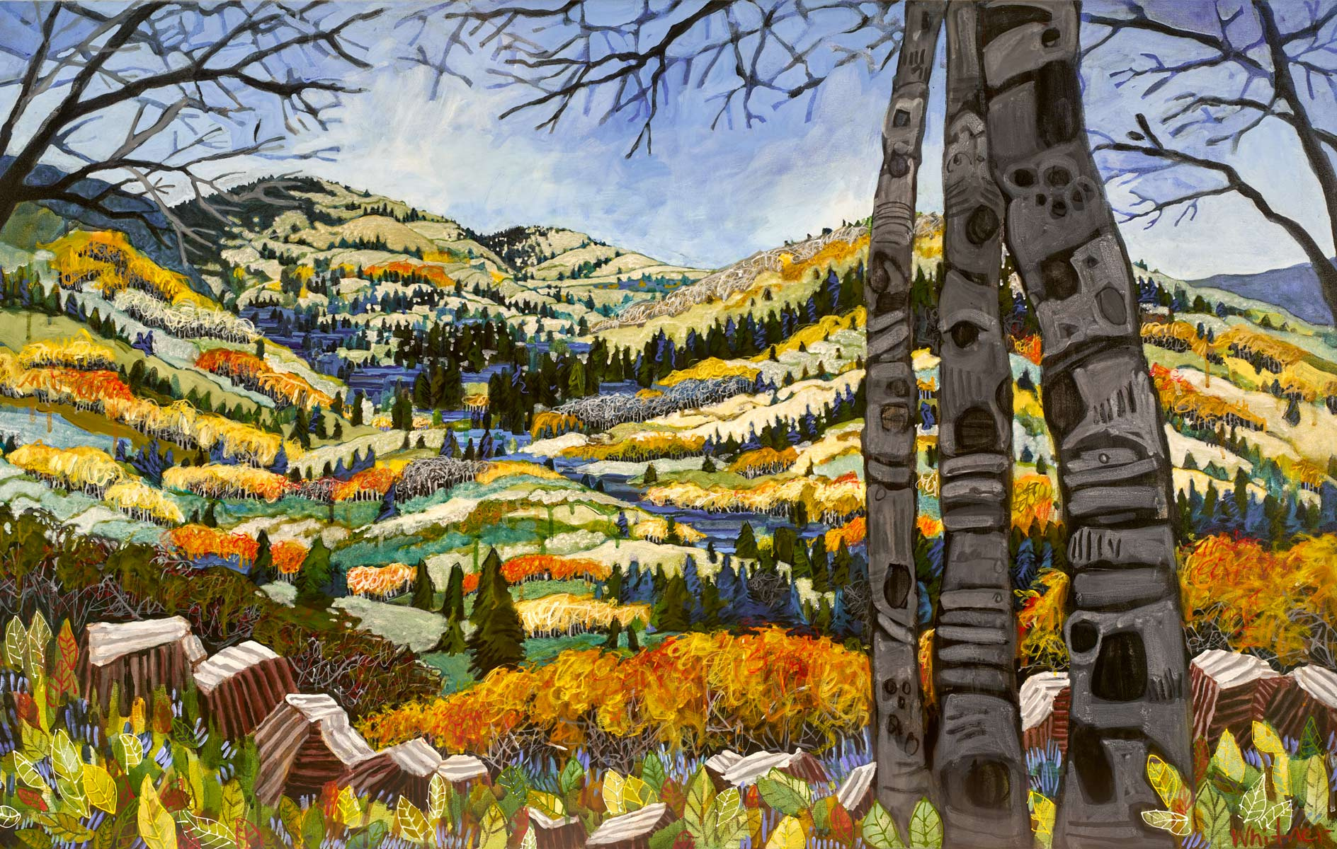 fall landscape colorful lance whitner art paintings steamboat springs colorado artist