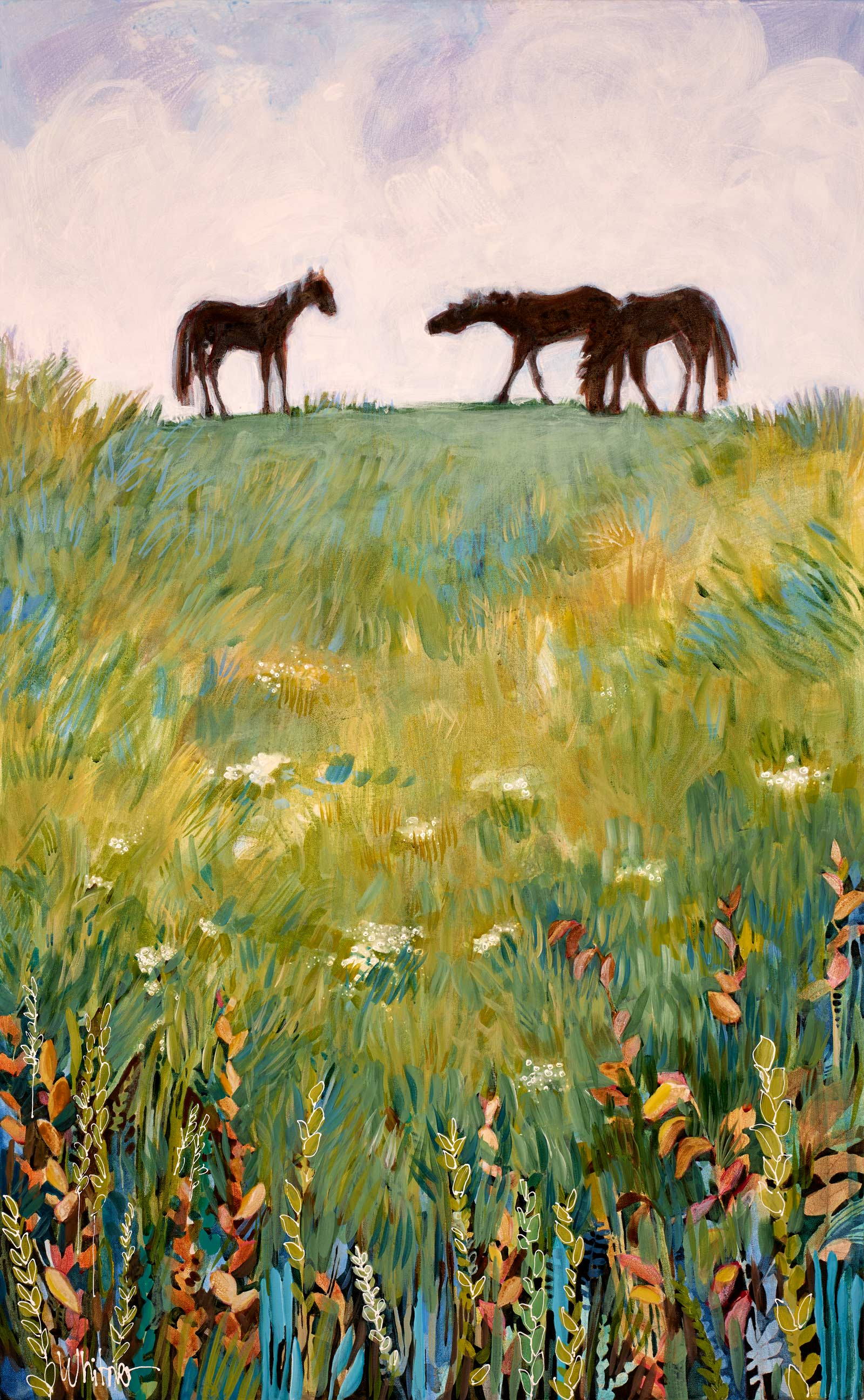Lance-Whitner-Meadow Grazing painting