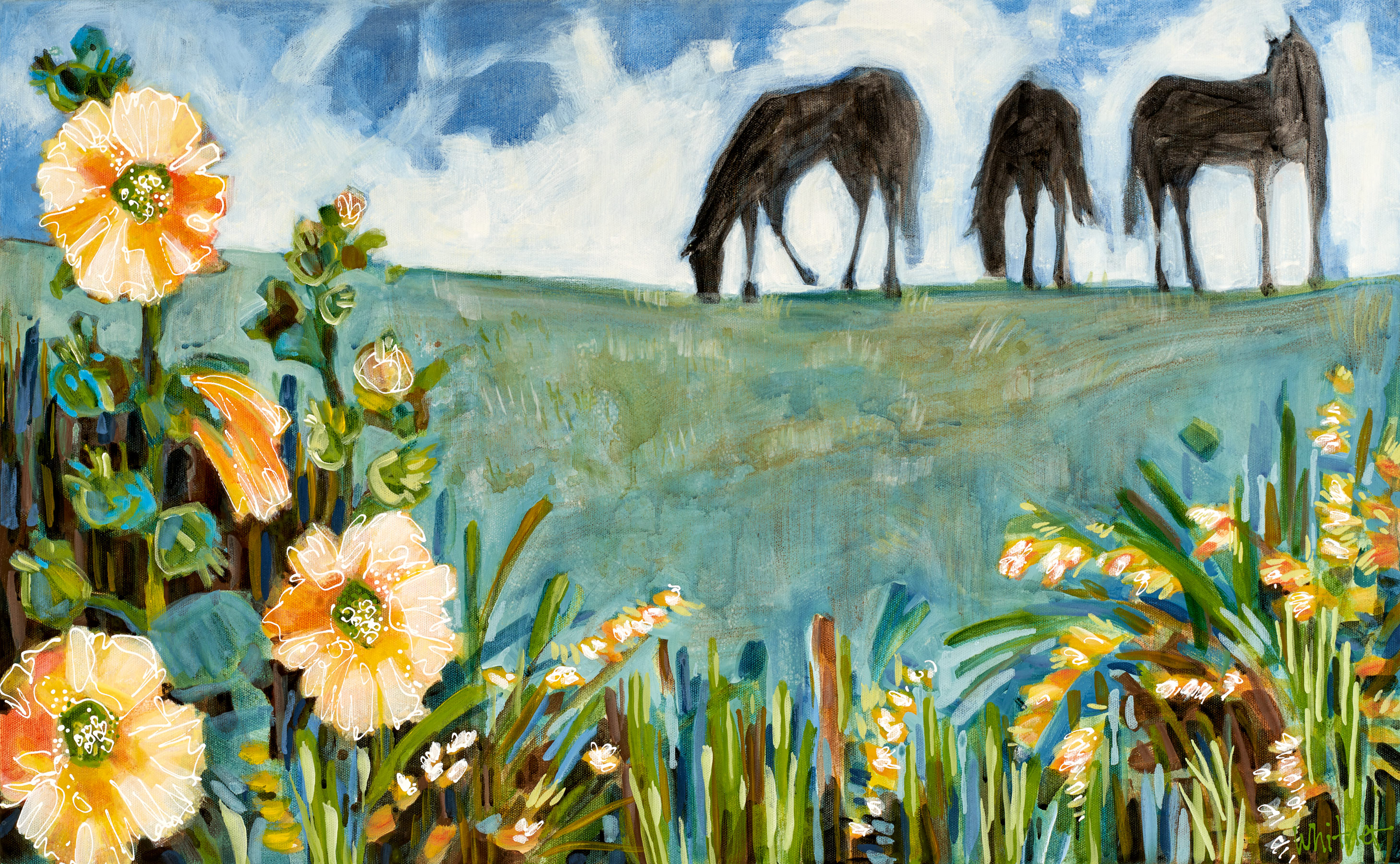 Lance-Whitner-Summer-Grazing-18X29-Canvas-Web available at sundancecatalog.com